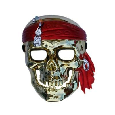 Maska pirát zlatá