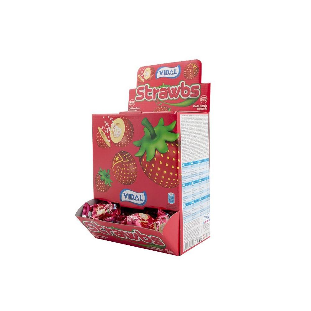 Vidal Strawbs - jahodová žvýkačka