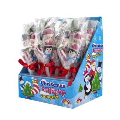 Kytice vánočních lízátek