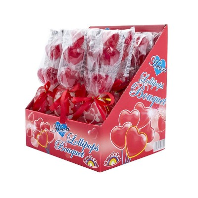 Heart Lollipops Bouquet 12ks