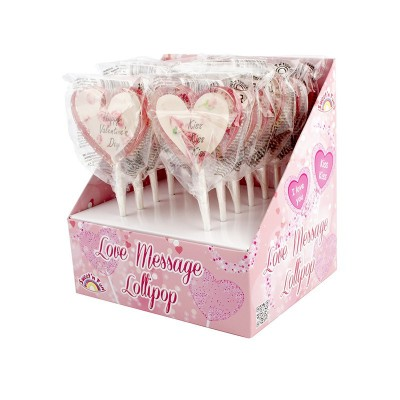 Love Message Lollipops 12ks