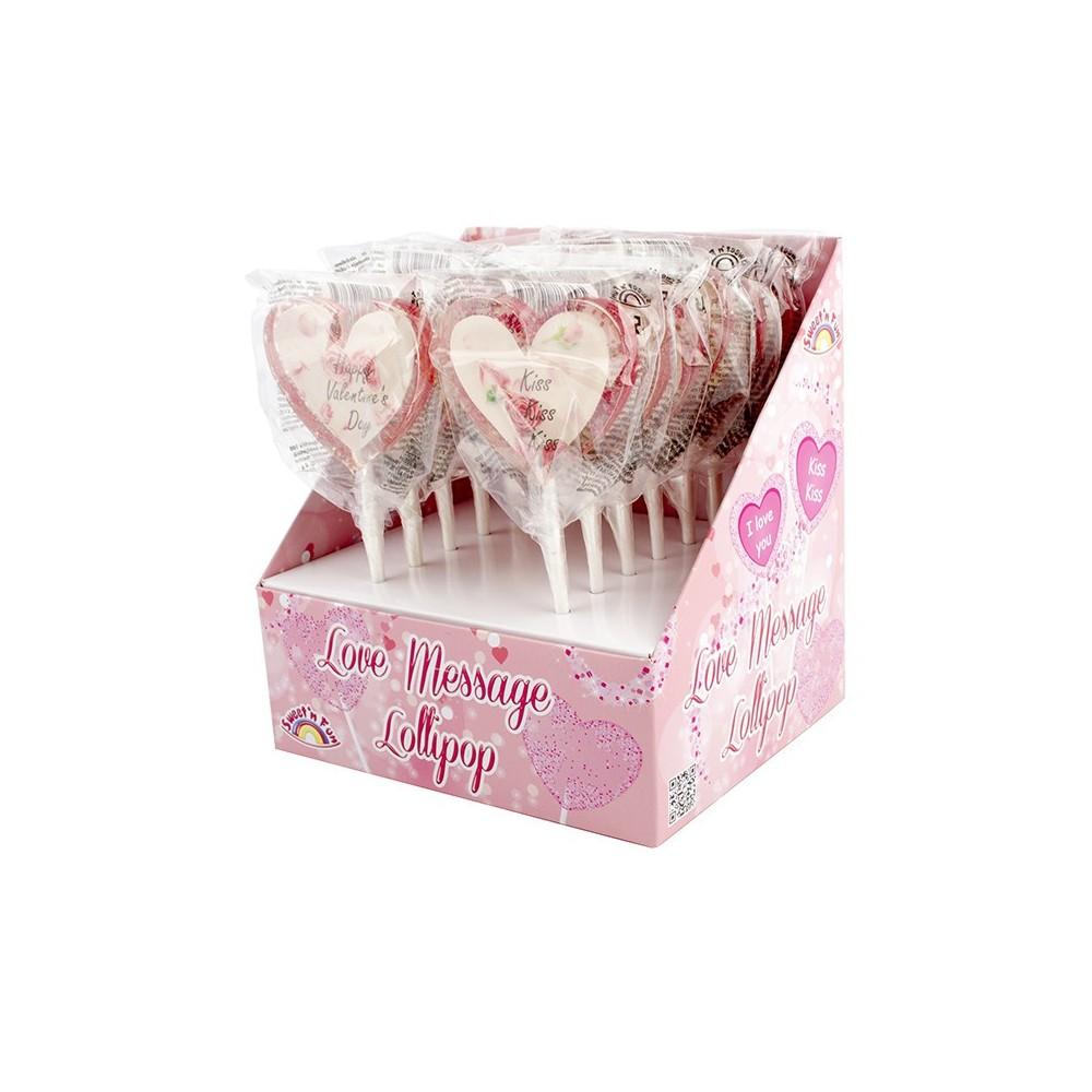 Love Message Lollipops 12ks
