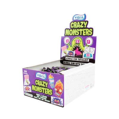 Crazy Monster Bubble Gum 200ks