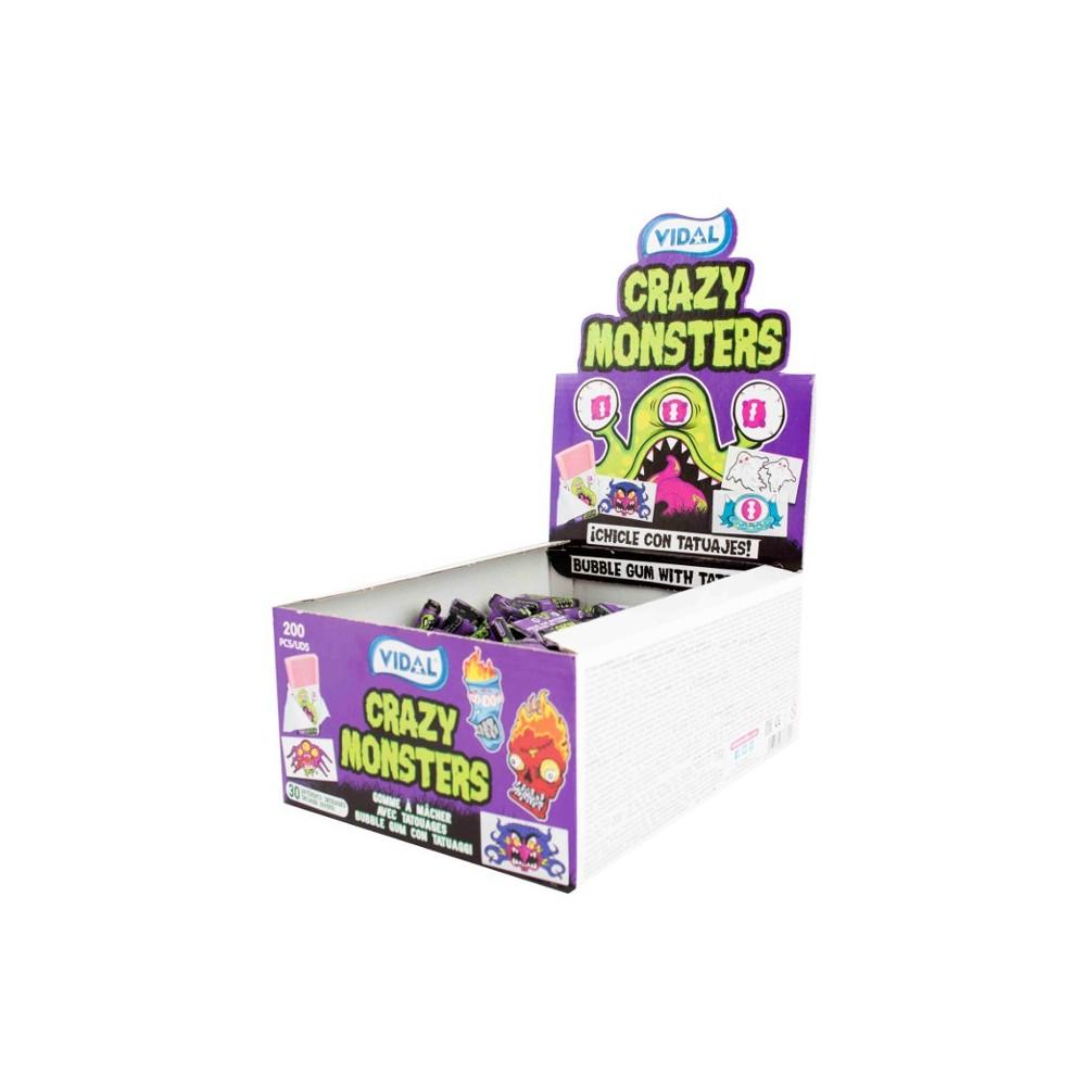 Crazy Monster Bubble Gum 200ks