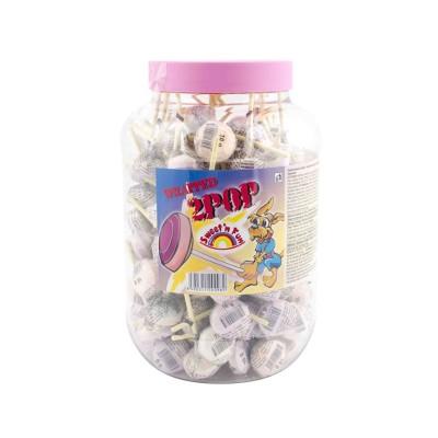 2 POP lízátko z hroznového cukru 125 ks