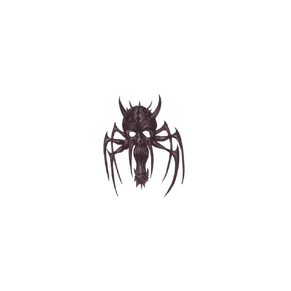 Nalepovací tetování pavouk s lebkou
