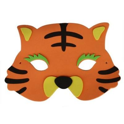 Maska tygr oranžový